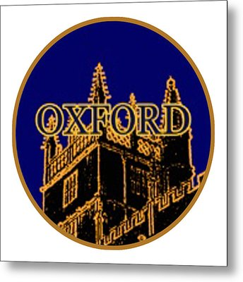 Oxford 1986 Art2579oa Jgibney The Museum Zazzle Gifts Metal Print by The MUSEUM Artist Series jGibney