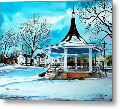 Oxford Bandstand Metal Print