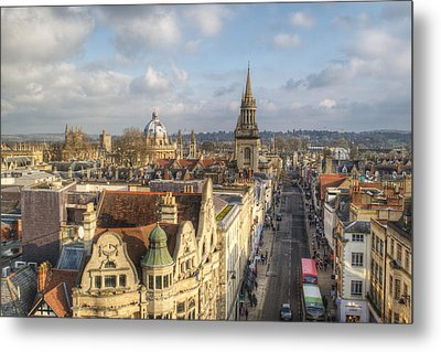 Oxford High Street Metal Print