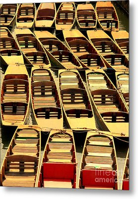 Oxford Punts Metal Print by Linsey Williams