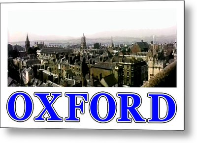 Oxford Snapshot Panorama Rooftops 2 Jgibney The Museum Zazzle Gifts Metal Print by The MUSEUM Artist Series jGibney