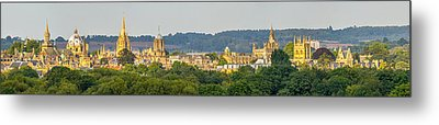 Oxford University Panorama Metal Print