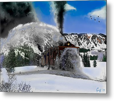 Oy The Snowfighter Metal Print by J Griff Griffin