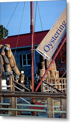 Oystering History At The Maritime Museum In Saint Michaels Maryland Metal Print