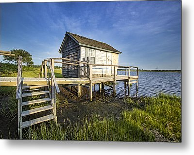 Oysterponds Creek Orient Ny Metal Print