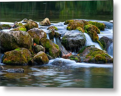 Ozark Waterfall Metal Print by Steve Stuller