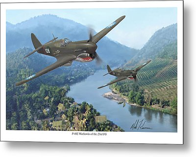 P-40 Warhawks Of The 23rd Fg Metal Print by Mark Karvon