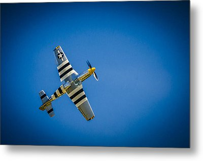 Metal Print featuring the photograph P-51 Invasion Stripes by Bradley Clay