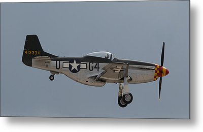 P-51 Landing Configuration Metal Print by John Daly