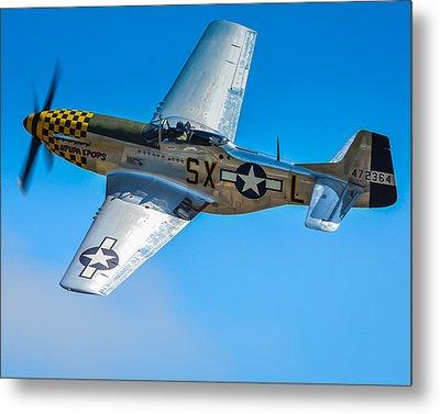 P-51 Mustang Break Out Roll Metal Print