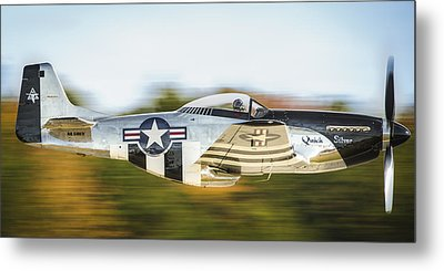 P-51 Mustang Flyby Metal Print by Brian Young