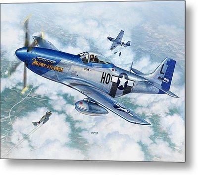 P-51d Mustang The Hawk-eye-owan Metal Print by Stu Shepherd