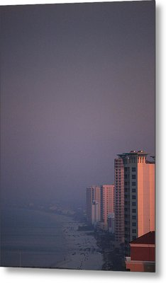 Panama City Beach In The Morning Mist Metal Print
