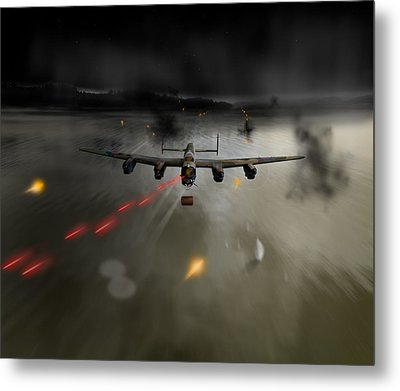 P-popsie Attacking The Mohne Dam Metal Print by Gary Eason