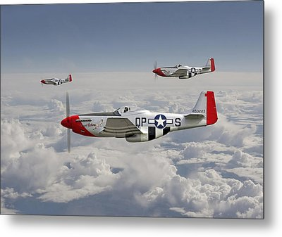 P51 - 334th Fighting Eagles Metal Print