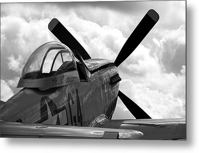 P51 In Clouds Metal Print by Remy NININ