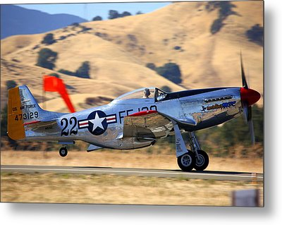 P51 Merlin's Magic On Take-off Roll Metal Print