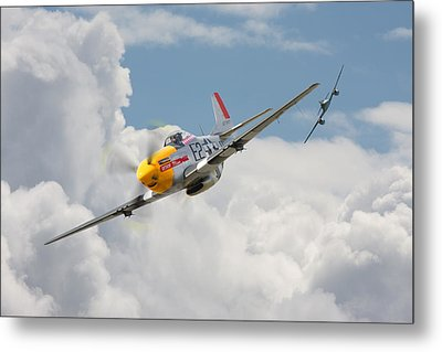 P51 Mustang And Me 262 Metal Print by Pat Speirs