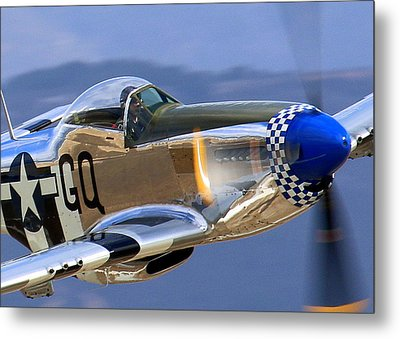 Grim Reaper P51 Mustang At Salinas Air Show Metal Print