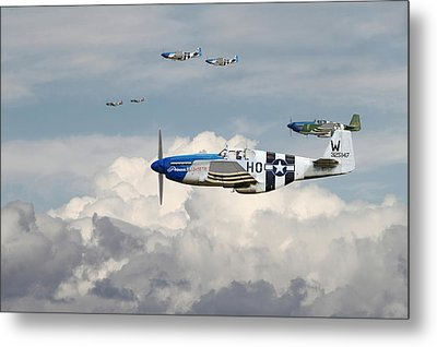 P51 Mustang - Blue Noses - 352nd Fg Metal Print by Pat Speirs