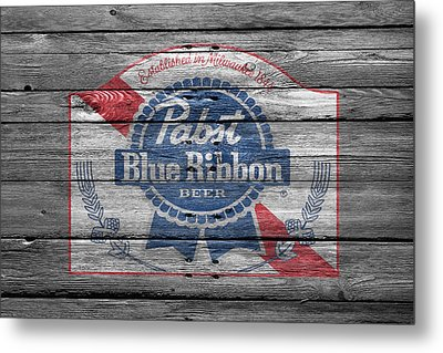 Pabst Blue Ribbon Beer Metal Print by Joe Hamilton