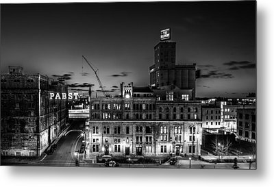 Pabst U-turn Monochrome Metal Print