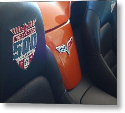 Pace Ride - Indianapolis 500 Corvette Metal Print by Steven Milner
