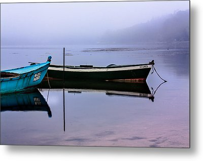 Pacheco Blue Boat Metal Print by Edgar Laureano