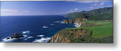 Pacific Coast, Big Sur, California, Usa Metal Print by Panoramic Images
