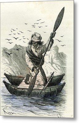 Pacific Coast Fisher 1869 Peru Metal Print by Peruvian School