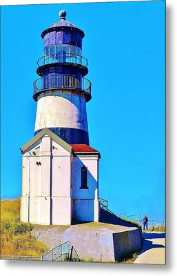 Pacific Coast Light House Metal Print