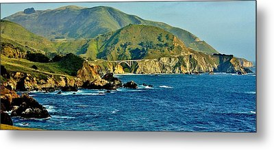 Pacific Coast Panorama Metal Print by Benjamin Yeager