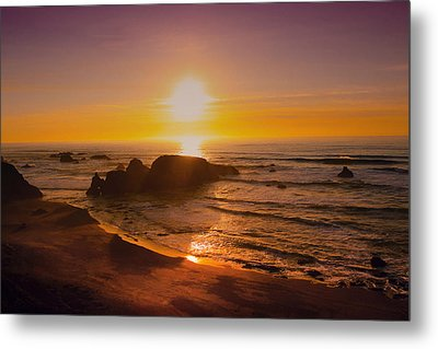 Pacific Gold Metal Print by Kandy Hurley
