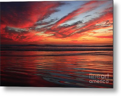 Metal Print featuring the photograph Oceanside Reflections by John F Tsumas