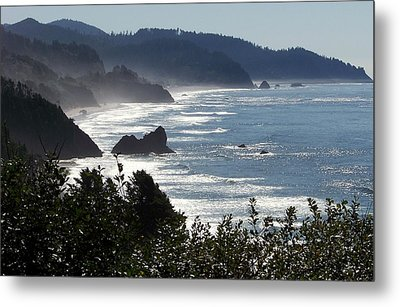 Pacific Mist Metal Print by Karen Wiles
