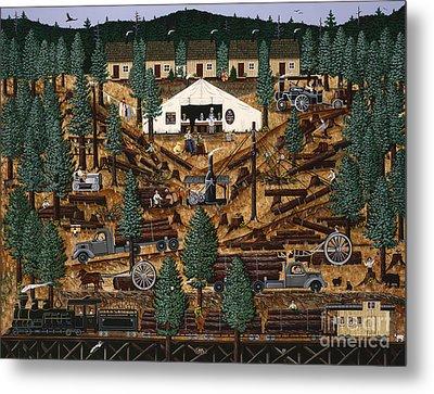 Pacific Northwest Logging Memories Metal Print by Jennifer Lake