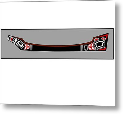 Pacific Northwest Native Canoe Metal Print by Fred Croydon