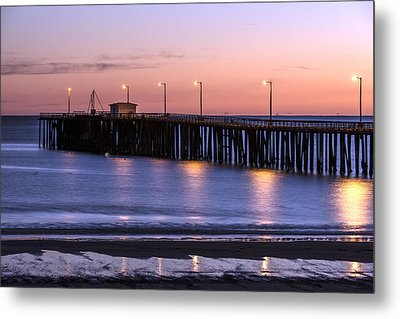 Pacific Ocean At The Pismo Beach Pier  Metal Print