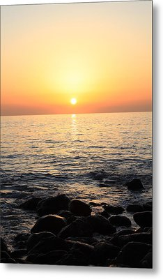 Pacific Sunrise Metal Print by Ashley Balkan