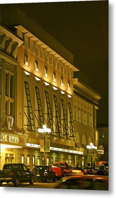 Pacific Theatres In San Diego At Night Metal Print by Ben and Raisa Gertsberg