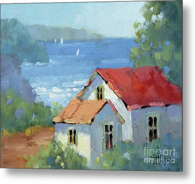 Pacific View Cottage Metal Print