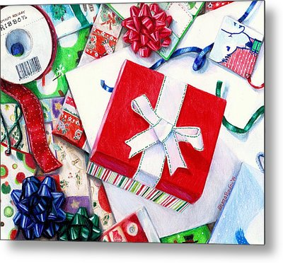 Packages Boxes And Bags Metal Print by Shana Rowe Jackson