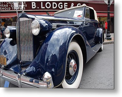 Metal Print featuring the photograph Packard 1207 Convertible 1935 by John Schneider