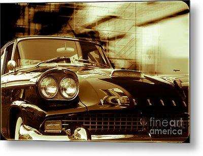 Packard On Sixth Street  Metal Print by Steven Digman