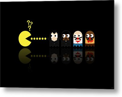 Pacman Pulp Fiction Metal Print by NicoWriter