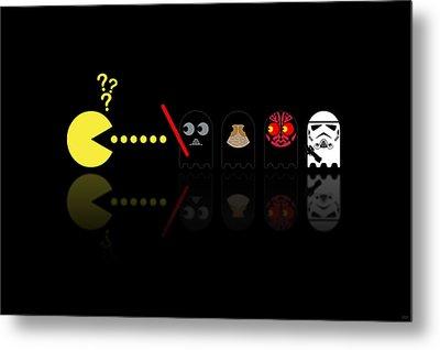 Pacman Star Wars - 2 Metal Print by NicoWriter