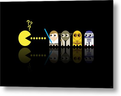 Pacman Star Wars - 3 Metal Print by NicoWriter