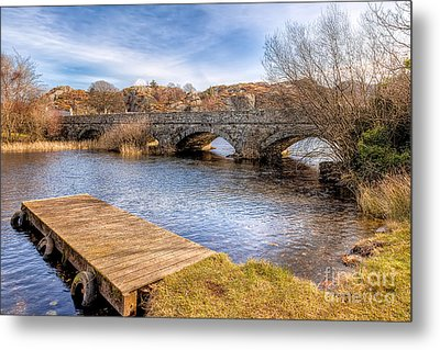 Padarn Bridge Metal Print by Adrian Evans