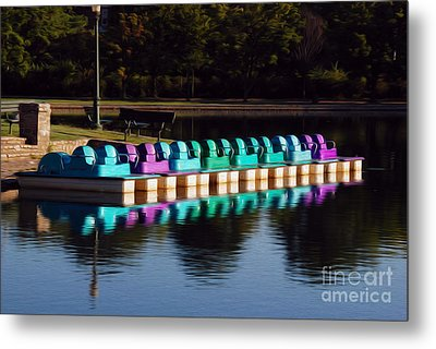 Metal Print featuring the digital art Paddle Boats by Kelvin Booker