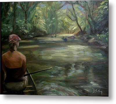 Metal Print featuring the painting Paddle Break by Donna Tuten